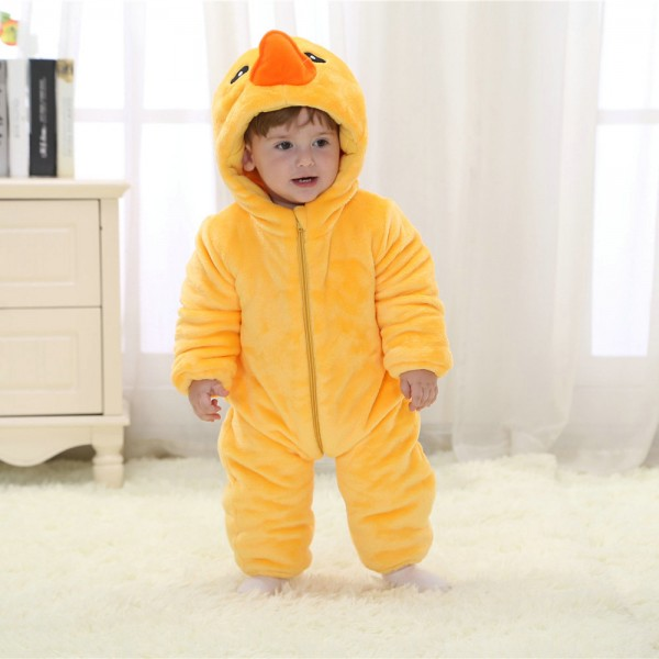 Rubber Duck Onesie for Baby & Toddler Animal Kigurumi Pajama Party Costumes