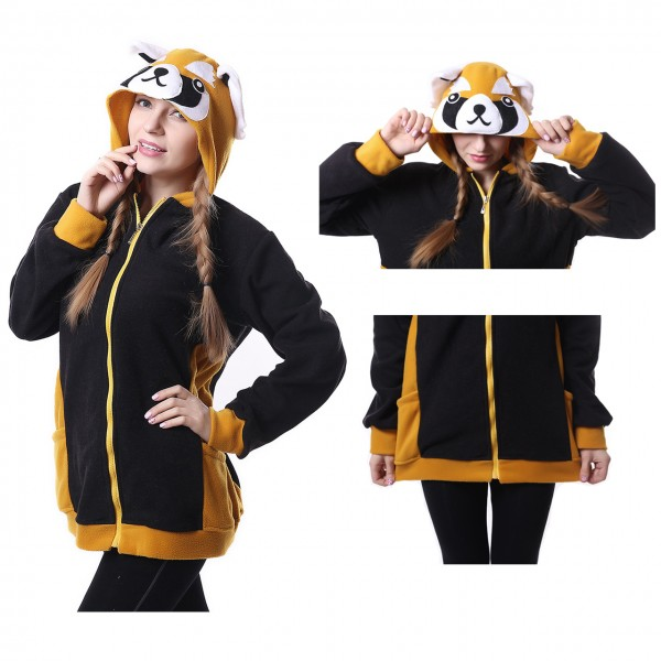 Red Panda Hoodie Unisex Women & Men Animal Kigurumi Coat Jacket