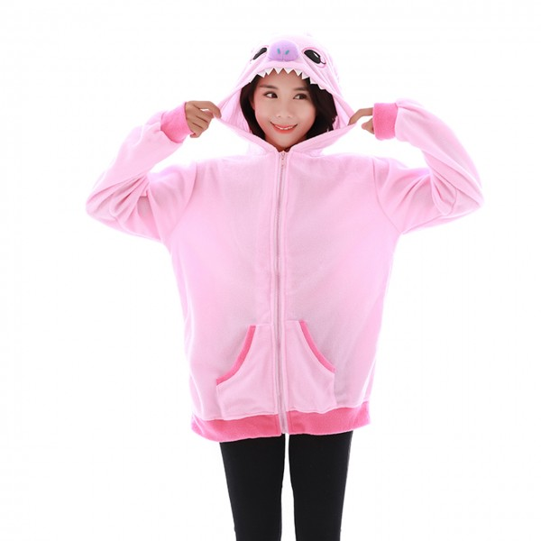 Angel Stitch Hoodie Unisex Women & Men Disney Animal Kigurumi Coat Jacket