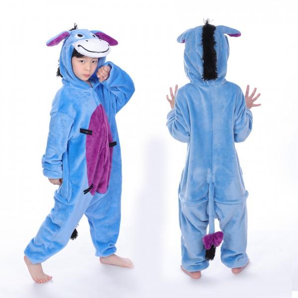 Eeyore Donkey Onesie for Kid Animal Kigurumi Pajama Party Costumes