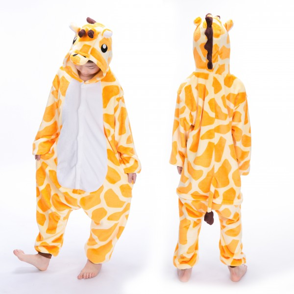 Giraffe Onesie for Kid Animal Kigurumi Pajama Halloween Costumes