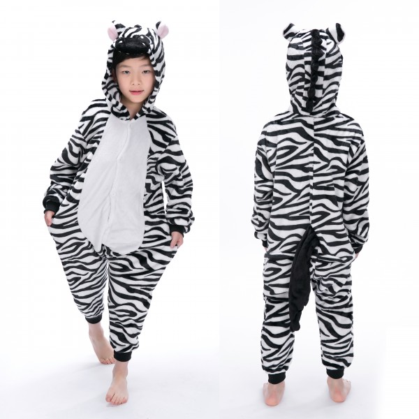Zebra Onesie Animal Pajama for Kid Kigurumi Halloween Party Costumes