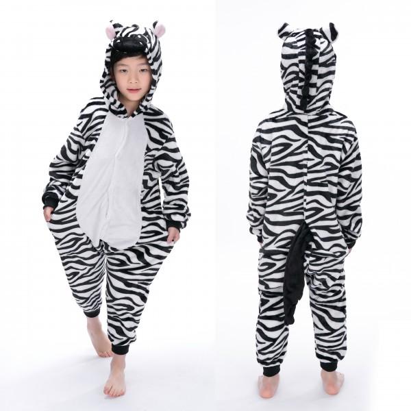 Zebra Onesie Animal Pajama for Kid Kigurumi Halloween Party Costumes