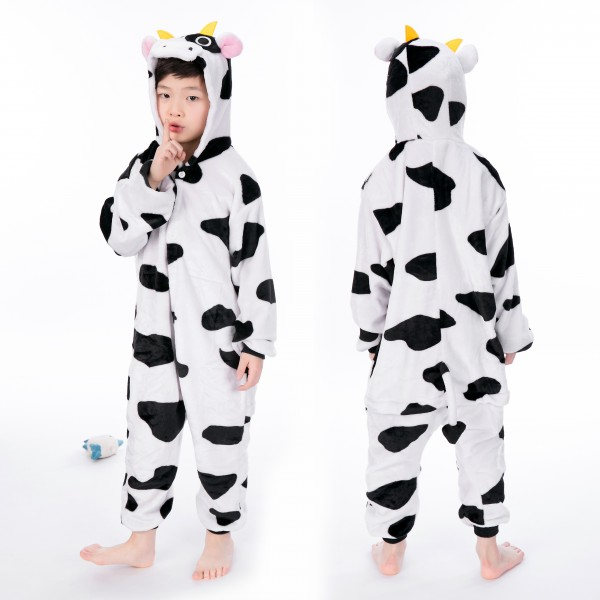 Cow Onesie for Kid Animal Kigurumi Pajama Halloween Costumes