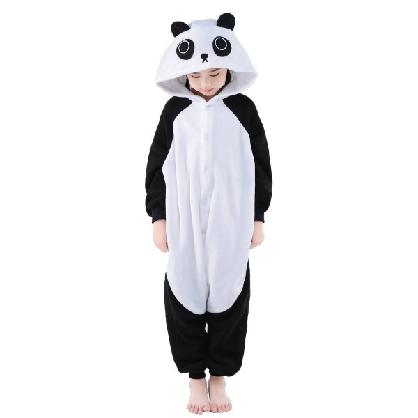 Panda Onesie for Kid Animal Kigurumi Pajama Halloween Costumes