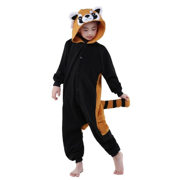Red Panda Onesie for Kid Animal Kigurumi Pajama Party Costumes
