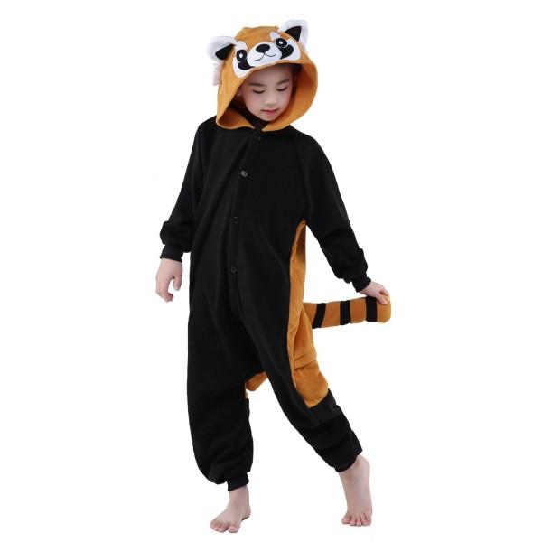 Red Panda Onesie for Kid Animal Kigurumi Pajama Party Costumes