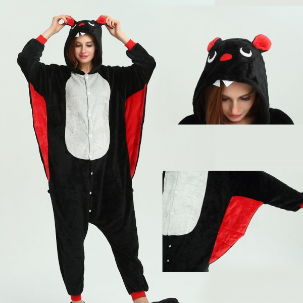 Bat Onesie Animal Pajama for Adult Kigurumi Halloween Party Costumes