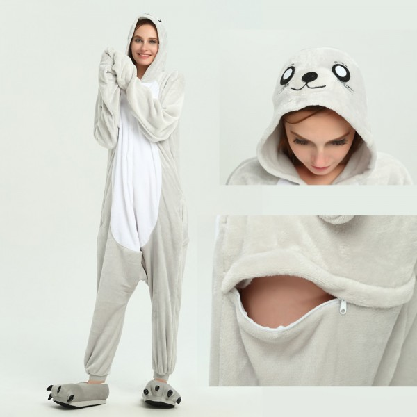 Seal Onesie Animal Kigurumi Pajama for Adult Halloween Party Costumes
