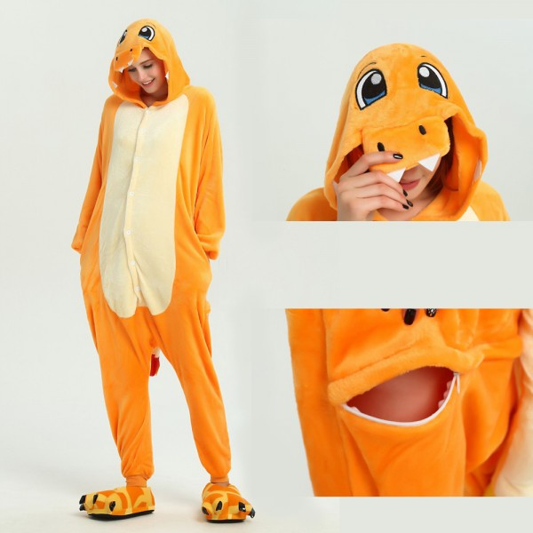 Charmander Onesie for Adult Animal Pajamas Kigurumi Pokemon Party Costumes
