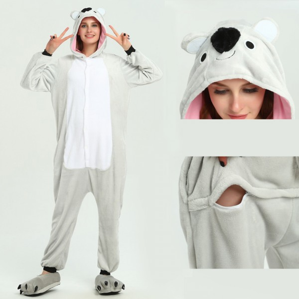 Koala Onesie Animal Kigurumi Pajama for Adult Halloween Party Costumes