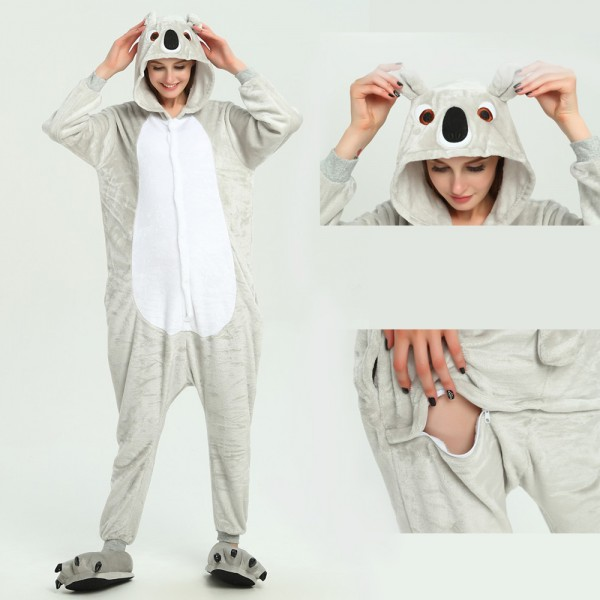 Koala Onesie Animal Kigurumi Pajama Unisex Women & Men Halloween Party Costumes