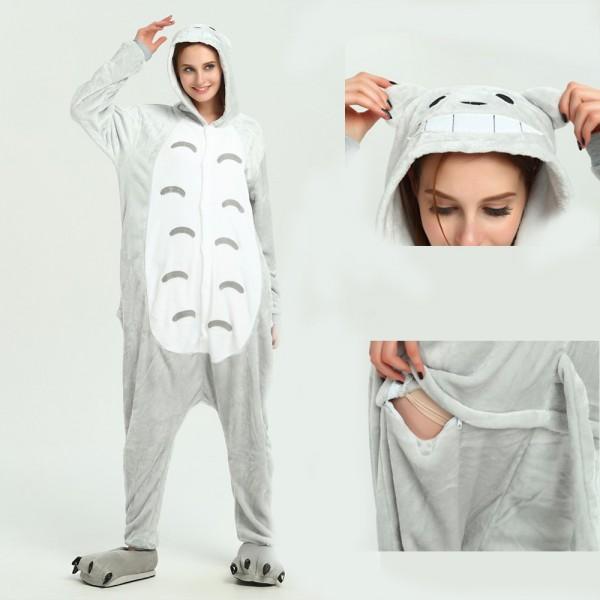 Totoro Onesie Animal Kigurumi Pajama for Adult Halloween Party Costumes