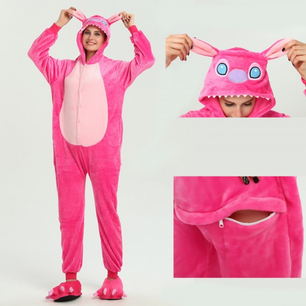 Angel Stitch Onesie Kigurumi Pajamas Disney Party Halloween Costumes