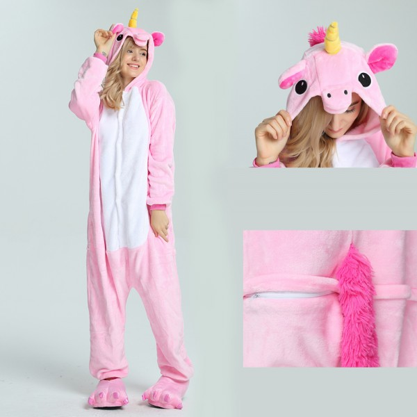 Pink Unicorn Onesie for Adult Kigurumi Pajama Halloween Costumes