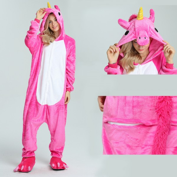 Rose Unicorn Onesie for Adult Kigurumi Pajama Halloween Costumes