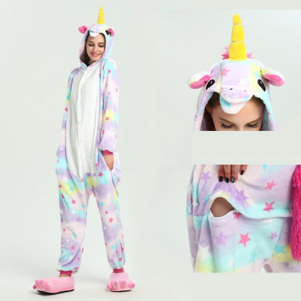 Dreamin Unicorn Onesie Unisex Women & Men Animal Pajama Kigurumi Party Costumes