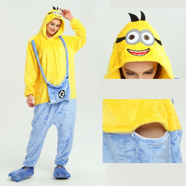 Minions Onesie for Adult Kigurumi Pajama Halloween Despicable Me Costumes
