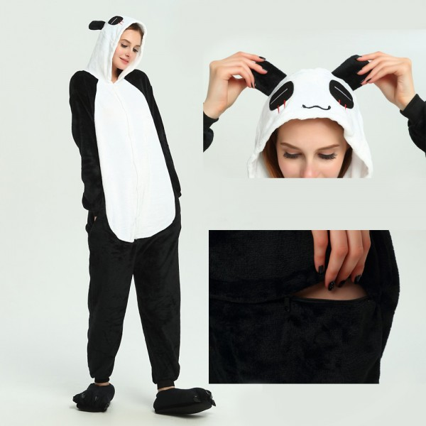 Panda Onesie for Adult Animal Pajama Kigurumi Halloween Party Costumes