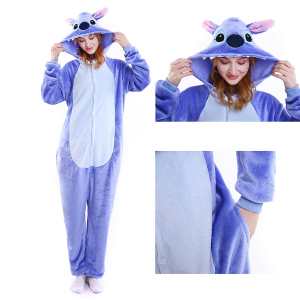 Stitch Onesie Kigurumi Animal Pajamas Disney Party Halloween Costumes