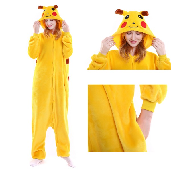 Pikachu Onesie for Adult Kigurumi Pajama Pokemon Party Costumes