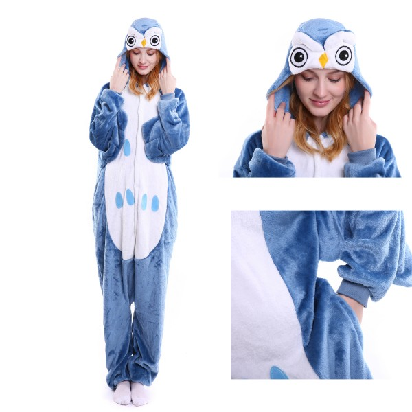 Owl Onesie Animal Kigurumi Pajama for Adult Halloween Party Costumes
