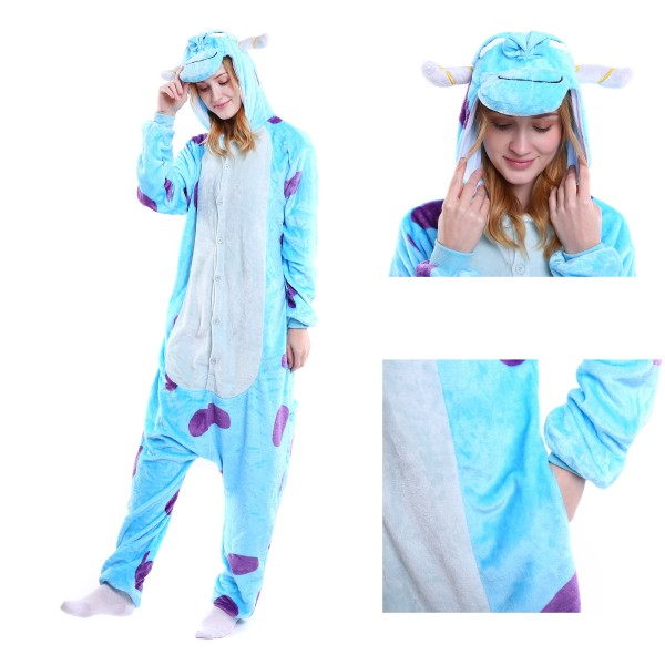 Sullivan Onesie Animal Kigurumi Pajama for Adult Halloween Party Costumes