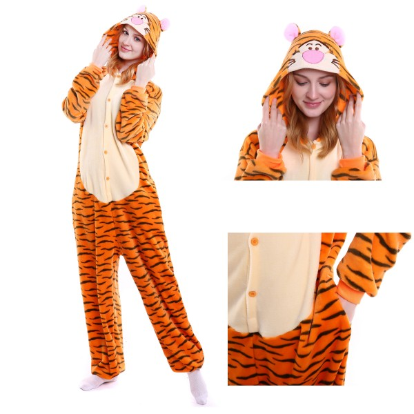 Winnie the Pooh Tigger Onesie for Adult Animal Kigurumi Pajama Party Costumes