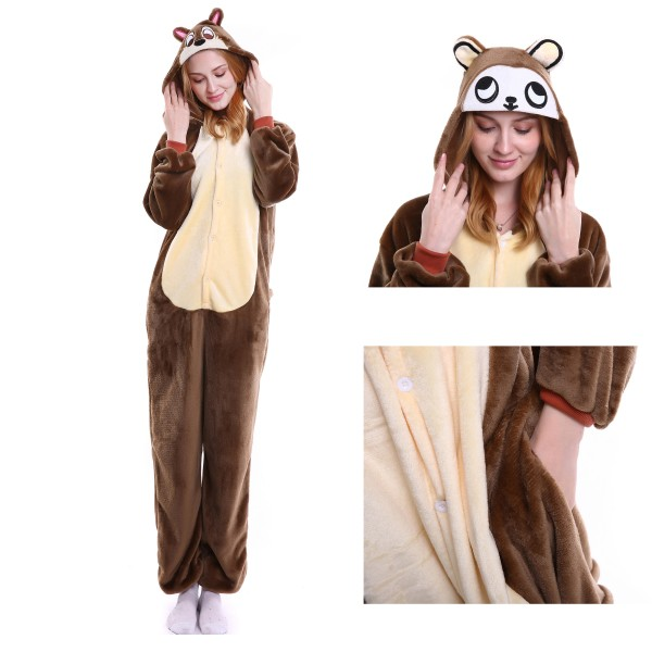 Chipmunks Onesie for Adult Animal Kigurumi Pajama Party Costumes