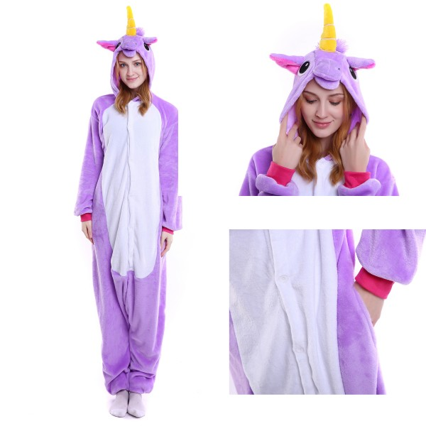 Purple Unicorn Onesie for Adult Animal Kigurumi Pajama Party Costumes