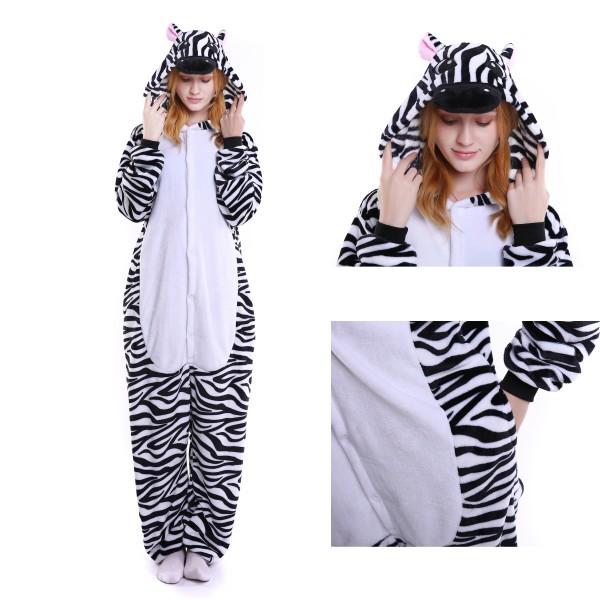 Zebra Onesie for Adult Animal Kigurumi Pajama Party Costumes