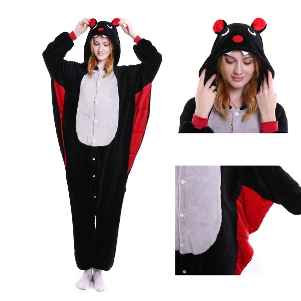 Bat Onesie for Adult Animal Kigurumi Pajama Party Costumes