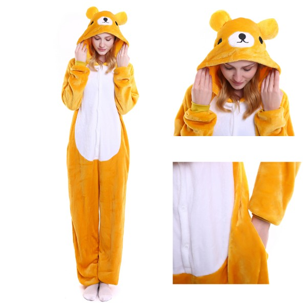 Rilakkuma Onesie for Adult Animal Kigurumi Pajama Party Costumes