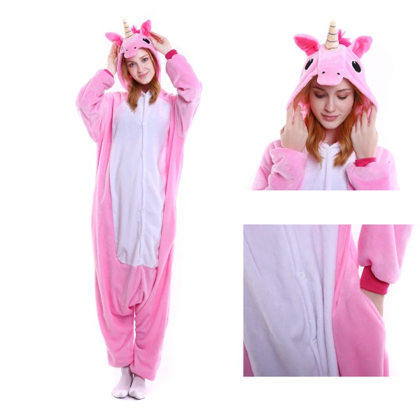 Pink Unicorn Onesie for Adult Kigurumi Pajama Halloween Party Costumes