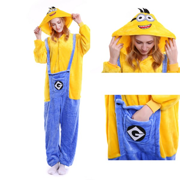 Minions Onesie for Adult Kigurumi Pajama Halloween Costumes