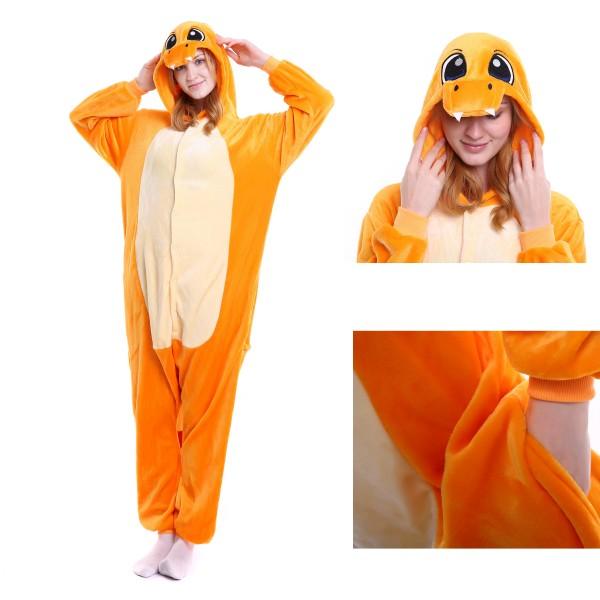 Charmander Onesie Unisex Women & Men Kigurumi Pajama Pokemon Party Costumes