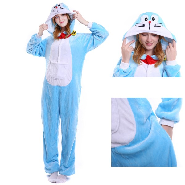 Doraemon Onesie for Adult Kigurumi Pajama Halloween Costumes
