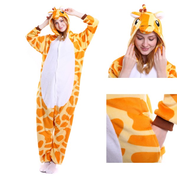 Giraffe Onesie for Adult Kigurumi Pajama Halloween Costumes