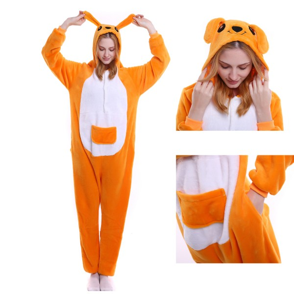 Kangaroo Onesie Animal Kigurumi Pajama Women & Men Halloween Party Costumes