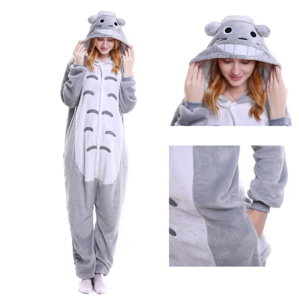 Totoro Onesie Animal Kigurumi Pajama Women & Men Halloween Party Costumes