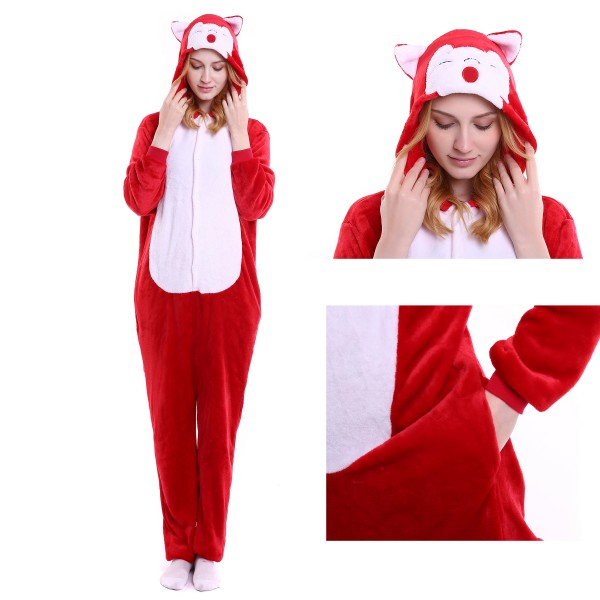 Ali Fox Onesie Animal Kigurumi Pajama Women & Men Halloween Party Costumes