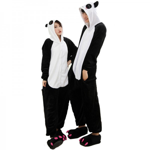 Panda Onesie Animal Kigurumi Pajama Unisex Women & Men Halloween Party Costumes