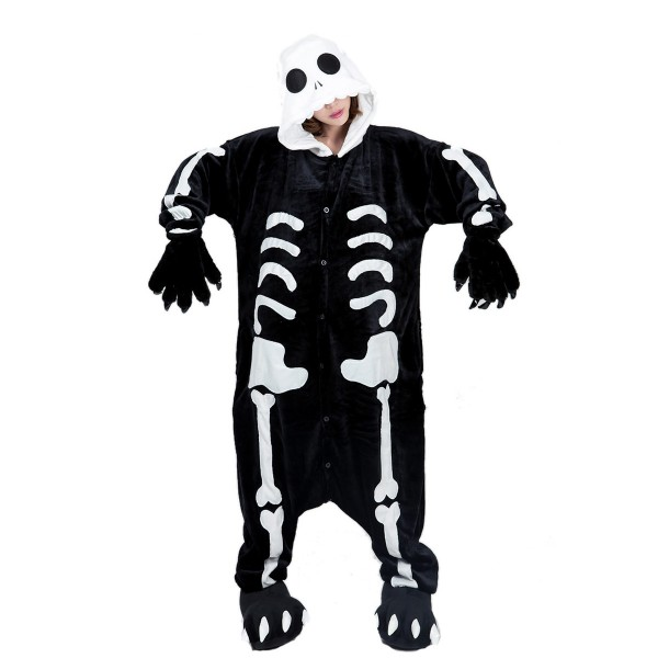 Skeleton Onesie Unisex Women & Men Kigurumi Pajama Halloween Party Costumes