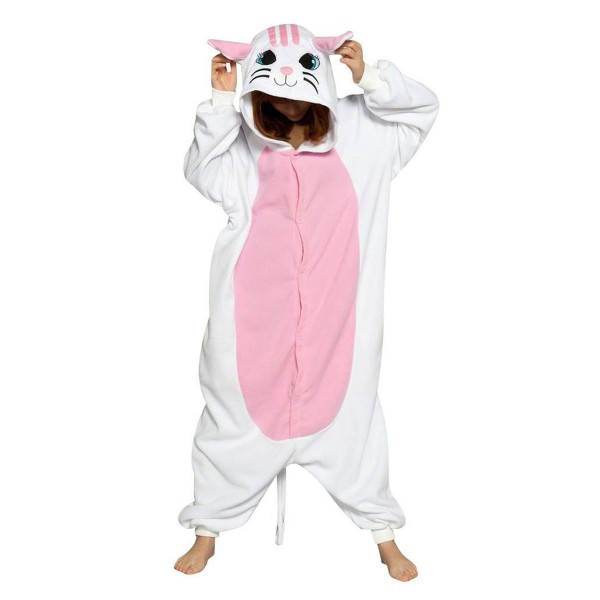 White Cat Onesie for Adult Animal Kigurumi Pajama Party Costumes