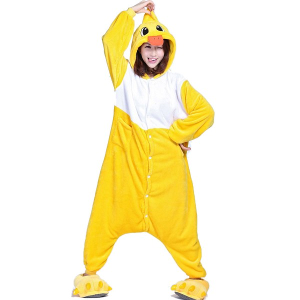 Yellow Duck Onesie for Adult Animal Kigurumi Pajama Party Costumes