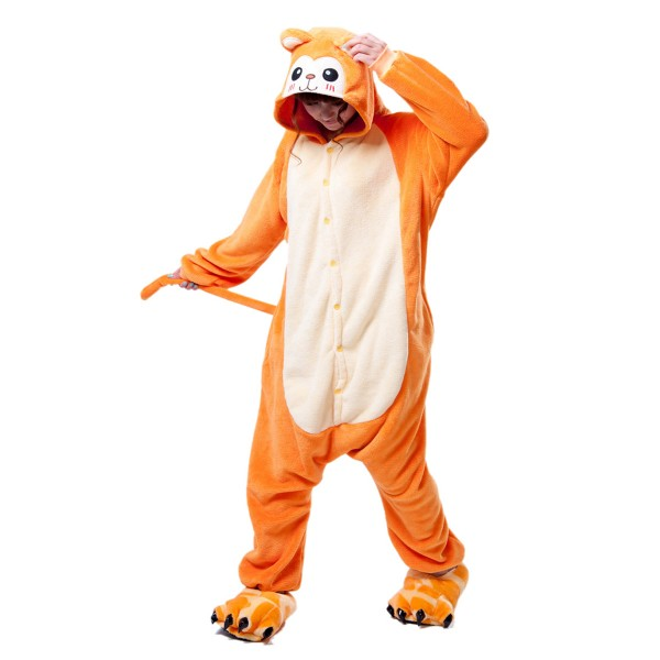 Golden Monkey Onesie for Adult Animal Kigurumi Pajama Party Costumes