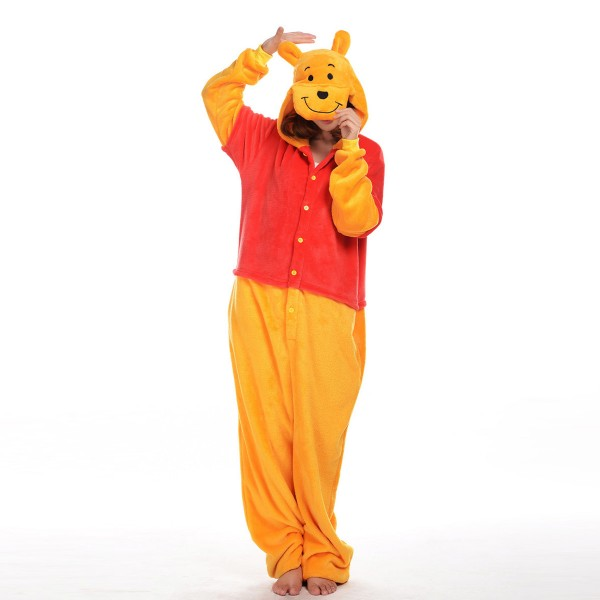 Winnie the Pooh Onesie Unisex Women & Men Disney Kigurumi Pajamas Party Cosplay Costumes