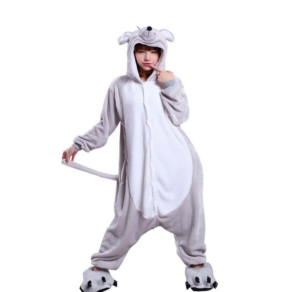 Gray Mouse Onesie for Adult Animal Kigurumi Pajama Party Costumes