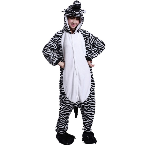 Zebra Onesie for Adult Animal Kigurumi Pajama Party Costumes