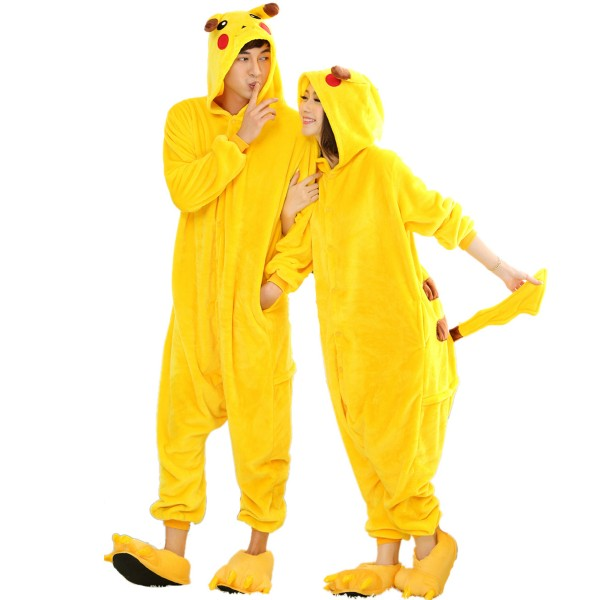 Pikachu Onesie for Adult Kigurumi Pajamas Halloween Pokemon Cosplay Costumes